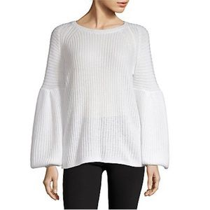 Lord & Taylor Textured Balloon Sleeve Sweater XL